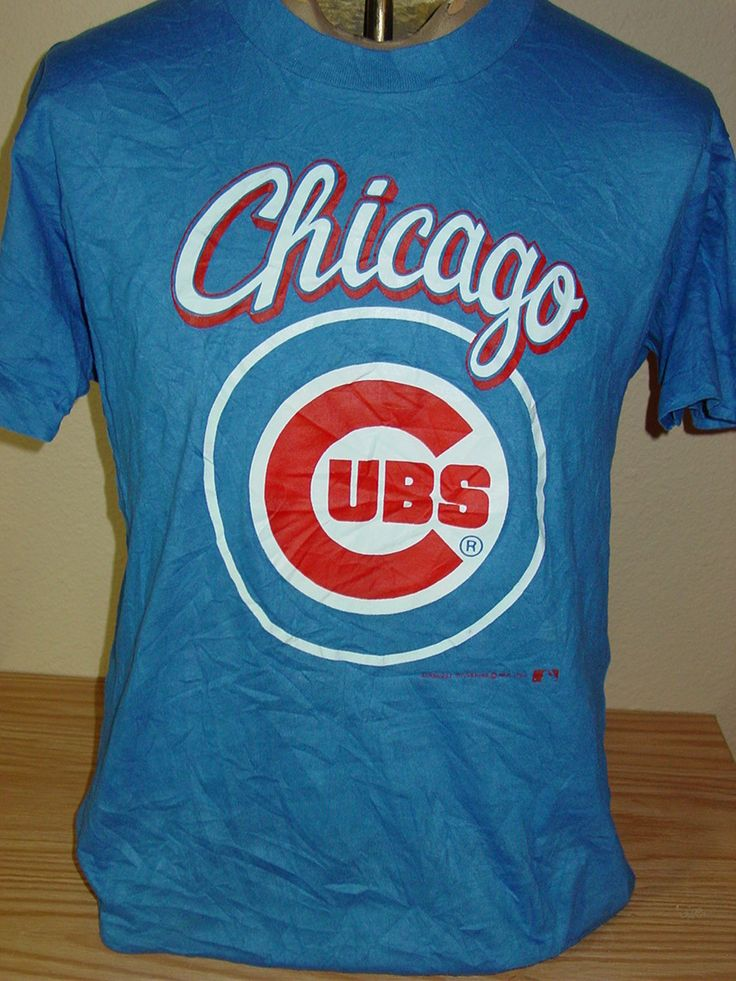 Vintage 1980s Chicago Cubs baseball THIN hipster t shirt Large by vintagerhino247 on Etsy