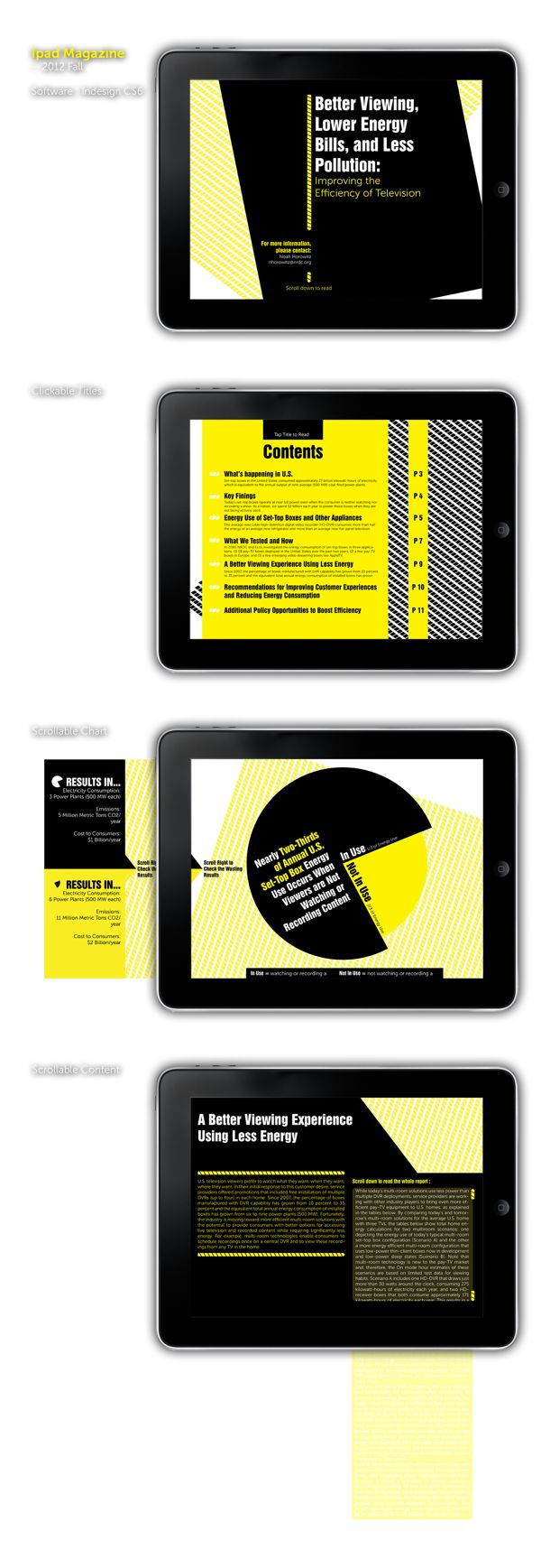 Ipad Magazine Design - Energy Saving on Behance