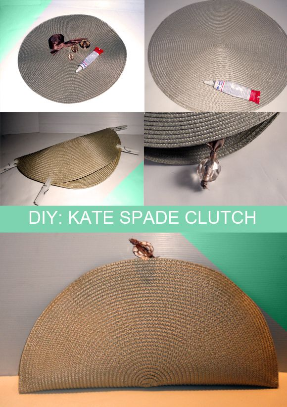 Kate Spade inspired clutch from a placemat?!?! How cool!