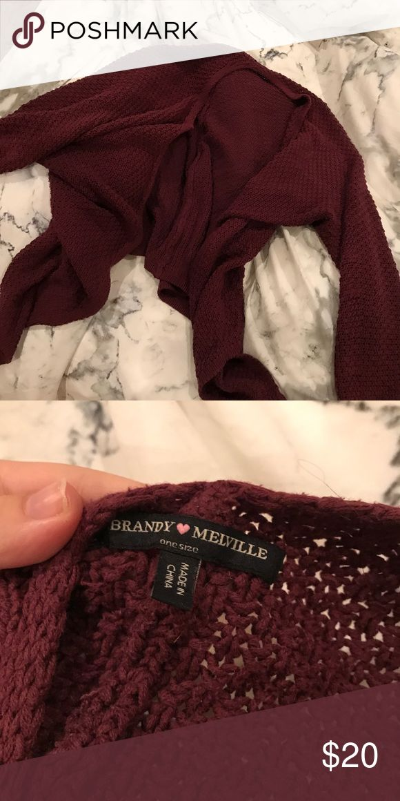 Brandy Melville Cardigan Perfect winter layer! Never worn! Brandy Melville Sweaters