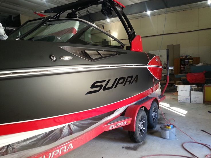 Supra Sc350 Boat Wrap Matte Black With Gloss Black Overlay