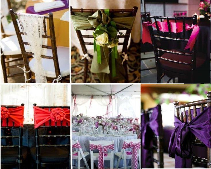 chaise mariage pompon vos chaises deco chaise mariage mariage mariage ...