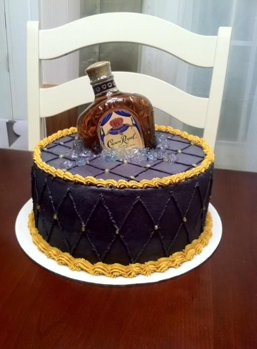 Crown royal cake alcohol bottle not beer