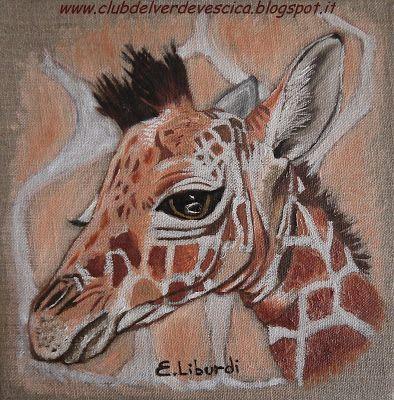 {#giraffe, #painting, #olioncanvas, #art}  club del verde vescica                                       : Dipingere UNA GIRAFFA