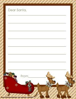Writing to Father Christmas? Christmas stationery so your children can write a pretty letter to Santa. More templates and blanks all at this page for letters to Santa.