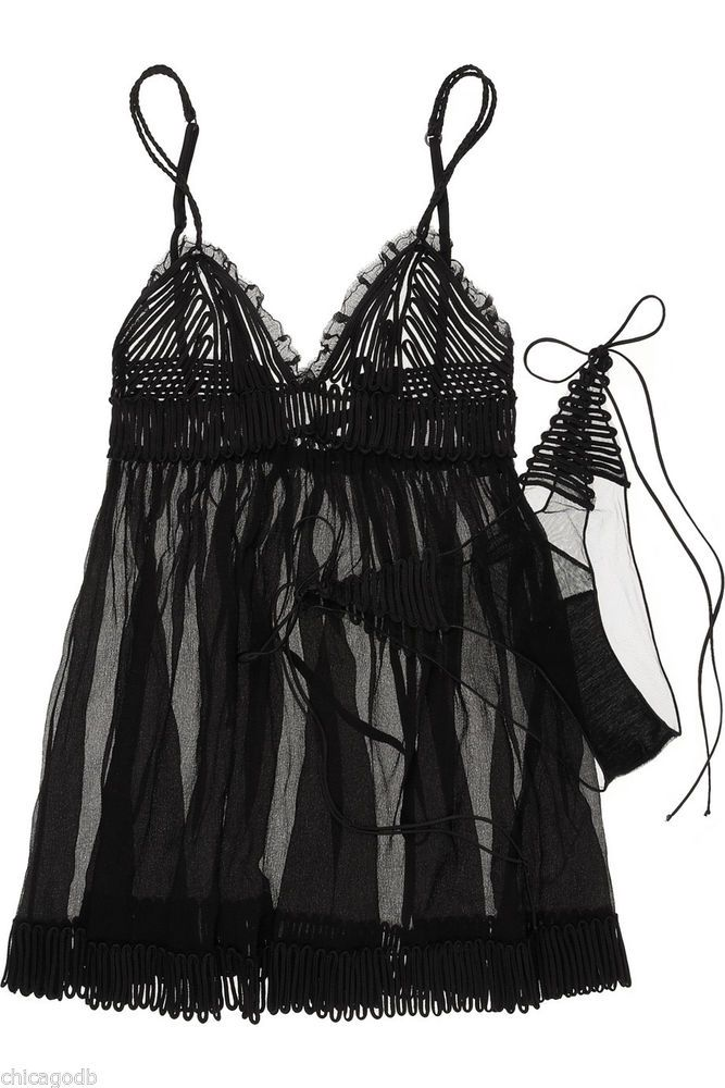 """La Perla's Gaultier Collection """"Feuillage"""" silk camisole and panty set...sold out everywhere else...$350 at Katerina's Closets - eBay Shop [save nearly $1,000 on this Gaultier set [sold out at Net-a-Porter, Lyst and everywhere else!]"""
