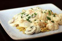 Shrimp Newburg With Mushrooms