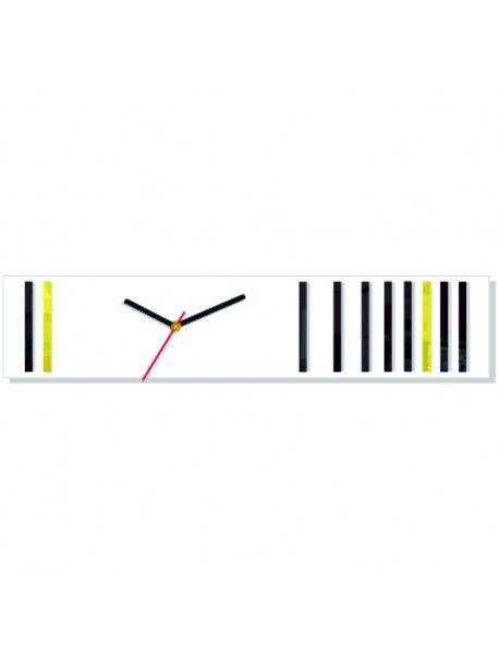 Plastové hodiny na stěnu. Barva bílé - černé - žluté. Rozměr 58 x 45 cm  Kód: FL-Z40-WHITE-BLACK-YELLOW-WAR10  Stav: Nový produkt  Dostupnost: Skladem  Přišel čas na změnu! Dekorační hodinky oživí každý interiér, zvýrazní šarm a styl Vašeho prostoru. Zůtulní realít s novými hodinami. Nástěnné hodiny z plexiskla jsou nádhernou dekorací Vašeho interiéru.