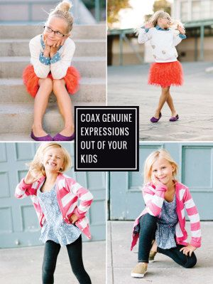 Need some help avoiding glazed eyes and fake smiles? 3 photographers share their best tips on coaxing genuine smiles out of kids. (There are some keepers in here!)