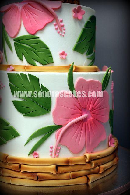 luau wedding by sandrascakes, via Flickr