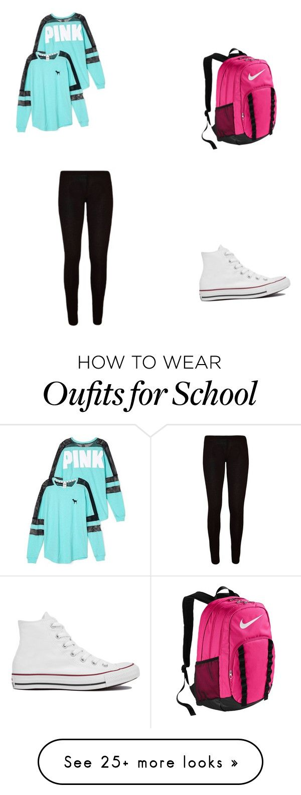 """""""Most girls at my school"""" by jellybean016 on Polyvore featuring Victoria's Secret, Converse and NIKE"""