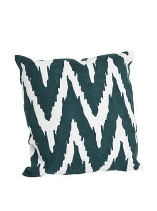 58% OFF Saro Lifestyle Teal Brasileiro Chevron Square Pillow
