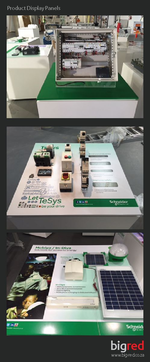 Product Display Panels for Showroom