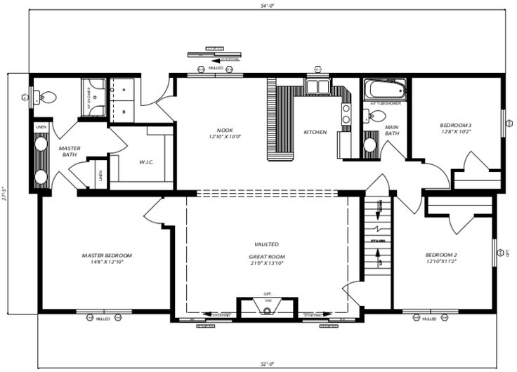 Pleasant Valley Modular 1509 Sq Ft Cascade A Floor Plan