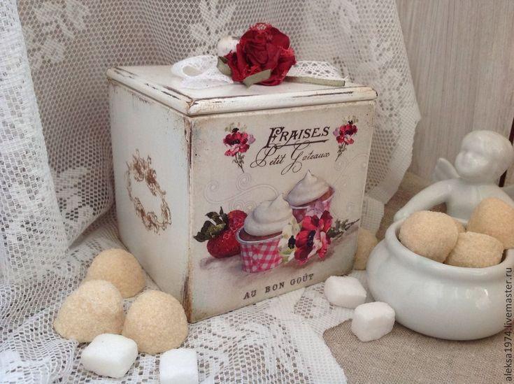 "The kitchen is handmade. Fair Masters - handmade. Buy a box for storage ""Meringue"". Handmade. White, Wood"