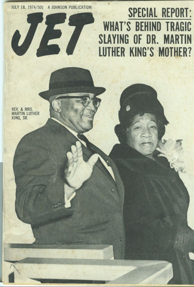 Dr. King's parents on the cover of Jet Magazine.