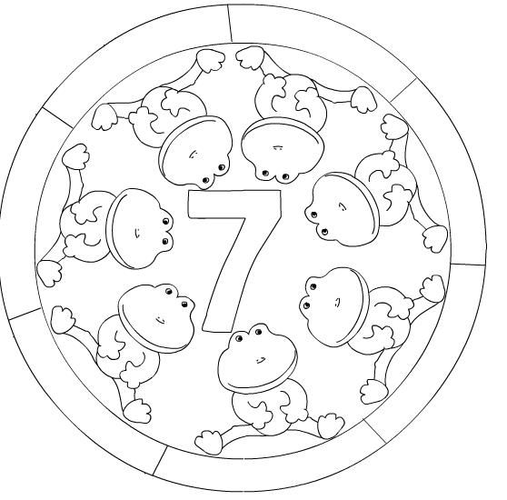 Numbers mandala coloring page | Crafts and Worksheets for Preschool,Toddler and Kindergarten