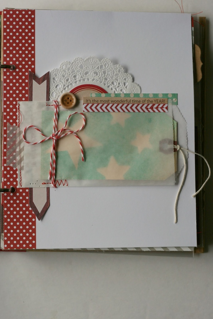 Scrapbook paper craft ideas - 12 Days Of Christmas Day 1