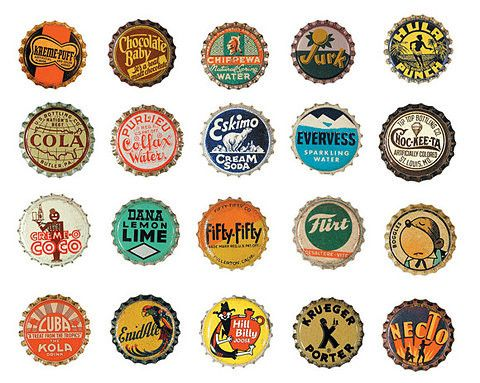 435 best cool old things images on pinterest soda for Cool bottle cap designs