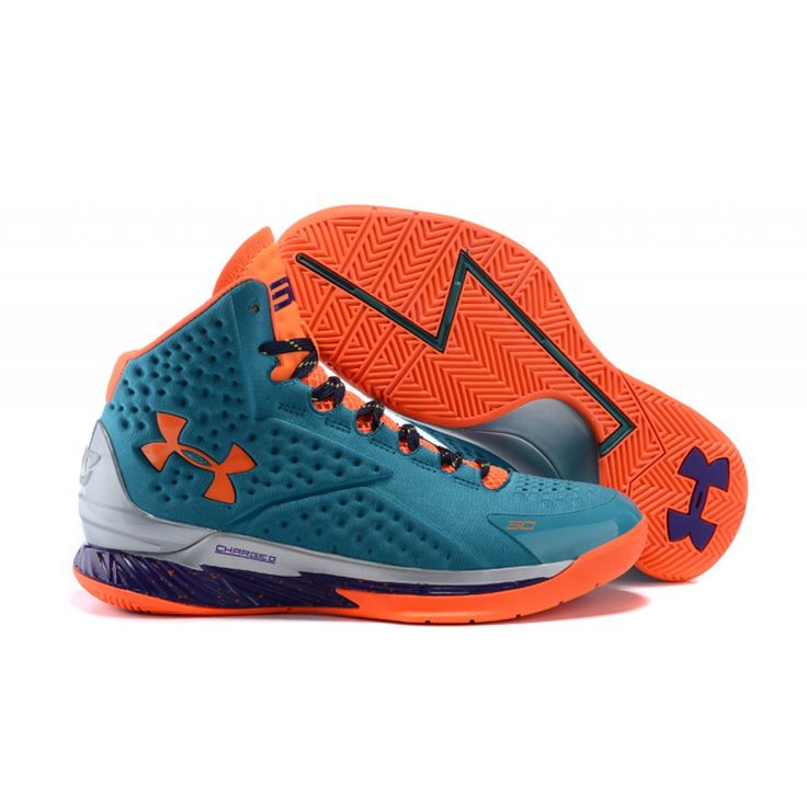 2015 Under Armour Curry One SC30 Select Camp Teal Orange Purple
