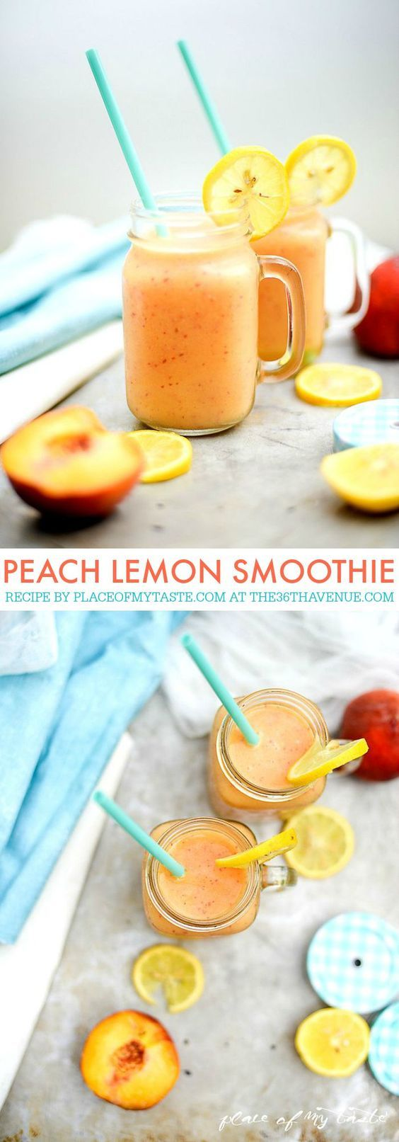 PEACH LEMON SMOOTHIE Recipe by placeofmytaste.com