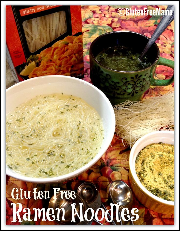 Gluten Free Ramen Noodles  Perfect for a quick lunch and the broth is great for sore throats and tummies.