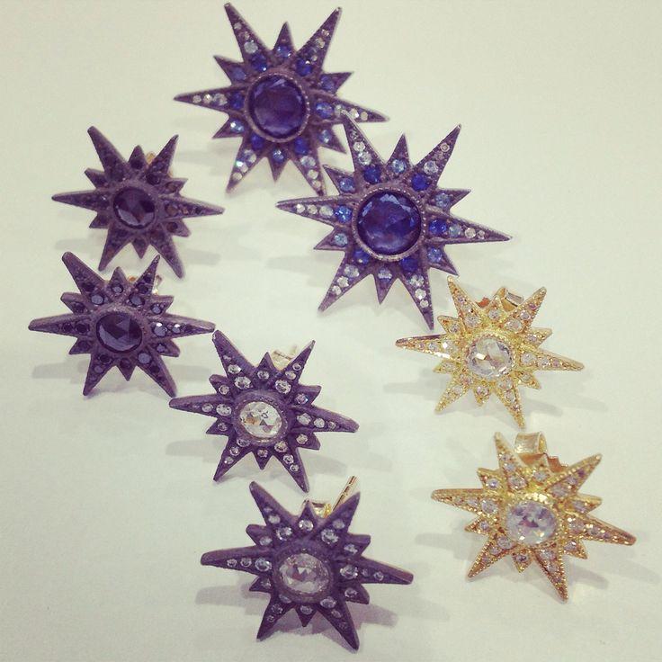 Starburst studs by @armansarkisyanjewelry a favorite here @singlestonemissionstreet!! #wishlist #want #studs #starburst #earring #diamond #stars#intagems #instabling #arman