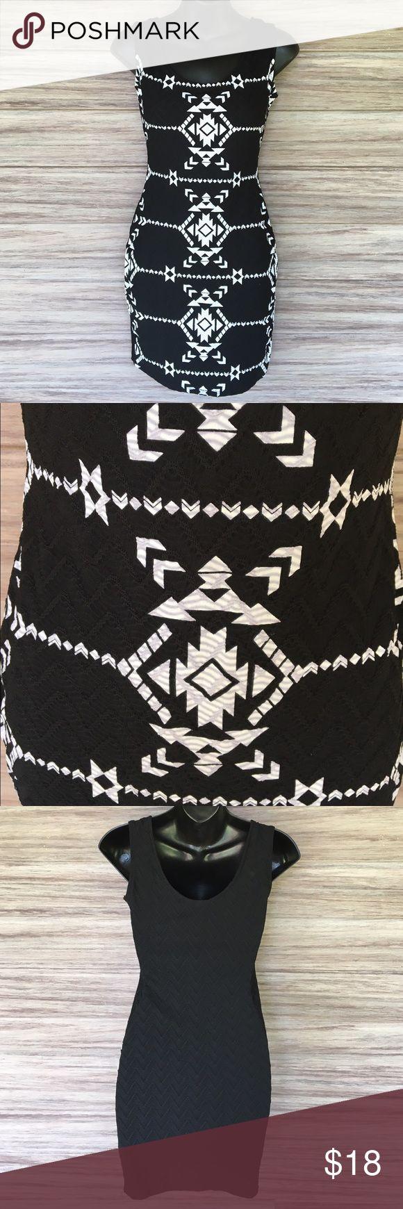 BOGO SALE! Aztec Bodycon dress Beautiful dress. Plain black on back. Excellent condition.  (S3C) Dresses