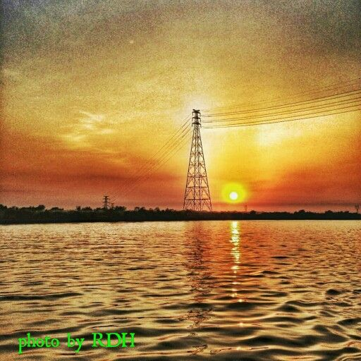Sundown at Yangon River