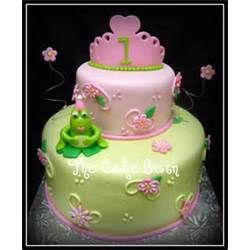 Princess Frog Themed First Birthday Cake Mdash Childrens Cakes Picture #18396