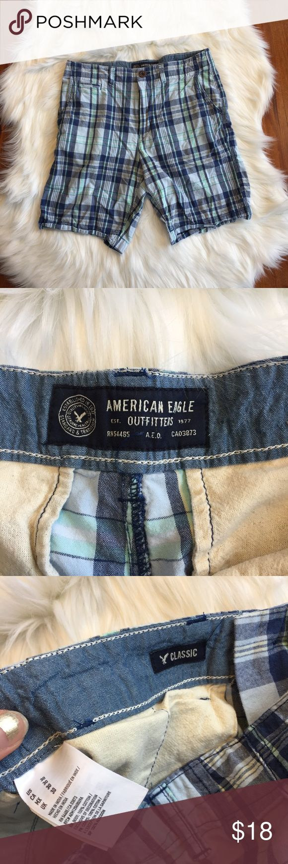 American Eagle Classic Style Plaid Shorts Excellent used condition, only worn a couple of times. All sales final.   🌟No Returns If Item Doesn't Fit - Please Ask For Measurements Instead (Per Posh Rules)  🌟 No Trades 🌟 I Do Not Model  🌟 Bundle 3 Or More Items In My Closet For 20% Off! American Eagle Outfitters Shorts