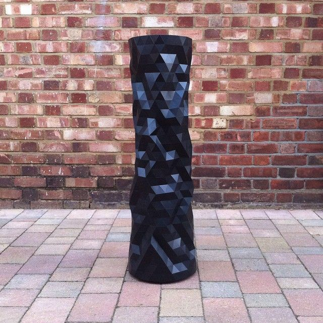 1m custom black Faceture vase off to Portugal. #faceture