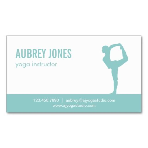 230 best yoga business cards images on pinterest business cards yoga studio modern business card aqua colourmoves Image collections