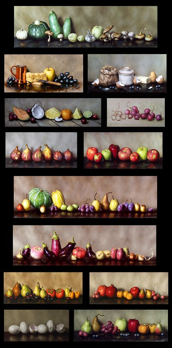 Clinton Hobart - Fruit and Vegetable Still Life