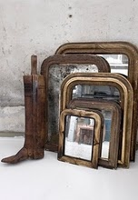cool collection of old mirrors
