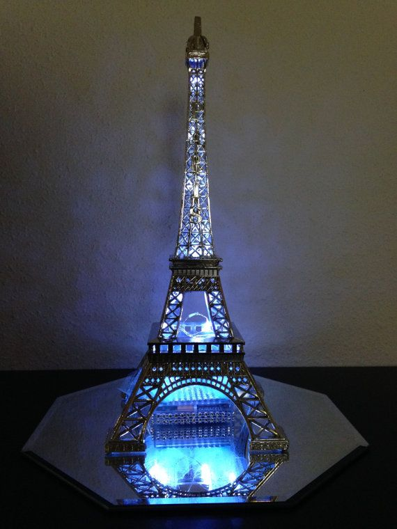 Paris Centerpiece LIght Up Eiffel Tower. 3 Carolyn by ItsMy15Party, $84.00