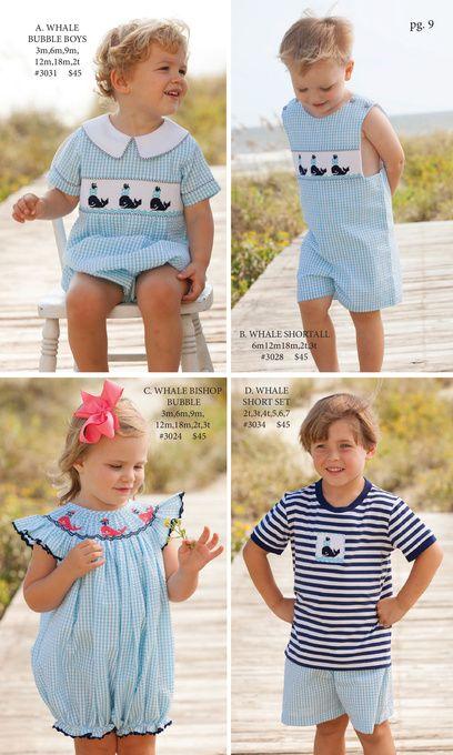 Shrimp and Grits Kids Spring 16'' Catalog - whale short set 45
