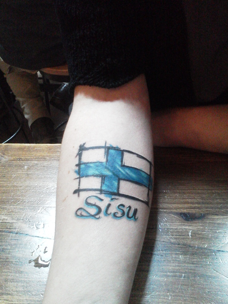 My Finnish sisu tattoo from Jason OX Radtke Magic City Markers - Billings, MT