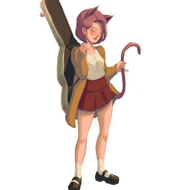 Okay.. im going slow on this project.  This one is then Dasha Cat Park  #art #cat #characterdesign #anime #animeart #animedrawing #drawing #illustration #doodle #cartoon #sketch  #artistspotlight #animearthelps #instaart