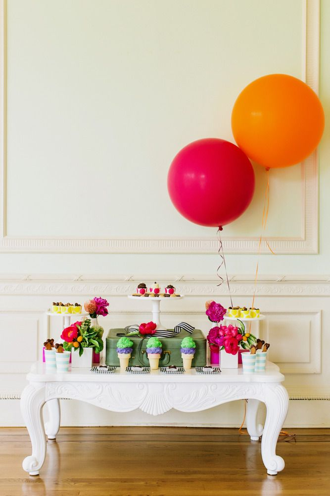 #kate-spade, #orange, #birthday-party, #colorful, #hot-pink  Photography: Milou & Olin | Hair: Melissa Marie | Design & Planning: The Stylish Soiree | Dog Collars: LADogStore | Dog Collars: BigPawCollars | Doggie Desserts: Le Marcel Dog Bakery | Florals: Soulflower Floral Design  http://soulflowersf.com/  | Makeup: Sarah Nicole Makeup | Rentals: Blueprint Studios | Rentals: One True Love Vintage Rentals | Venue: Kohl Mansion | Wardrobe Styling: Q The Stylist