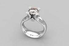 Solitario de oro blanco con diamante 1Kt
