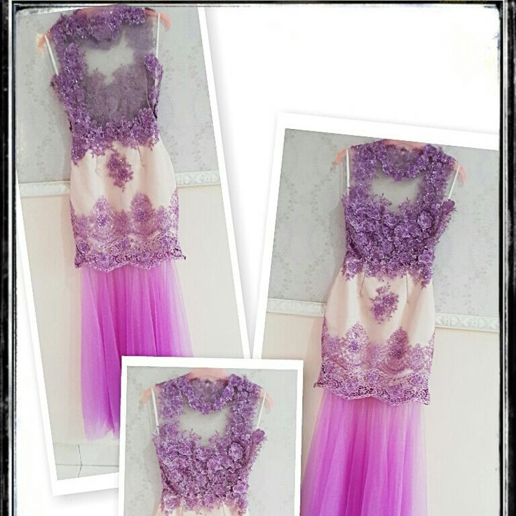 Two ways purple long dress