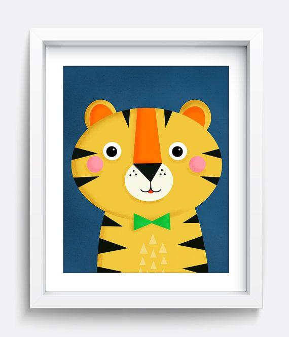Impresión del tigre, arte, arte de pared, arte de pared de impresión tigre para imprimir, para descargar, imprimir, niños pared arte, decoración de habitación de bebé, para imprimir arte, tigre