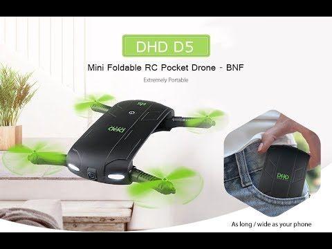 $21 Foldable Selfie Drone That ROCKS   Eachine DHD D5 Wifi FPV Camera Po...