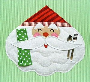 PATTERN Merry SANTA Placemat and Napkin