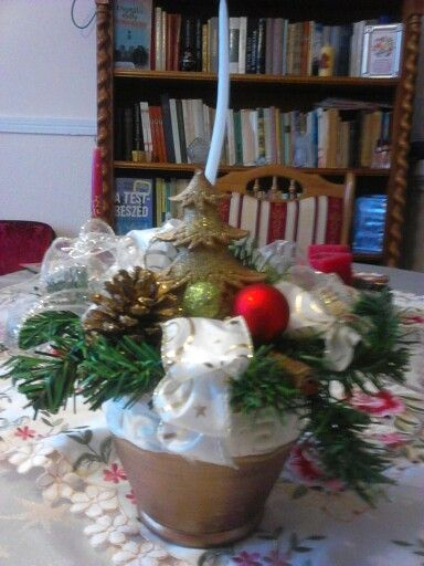 Karácsonyi asztaldísz