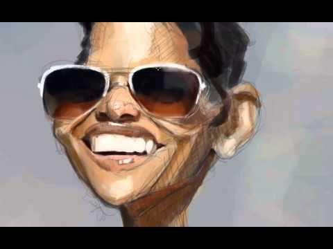 Halle Berry por David Duque + Video - Caricaturas de Famosos