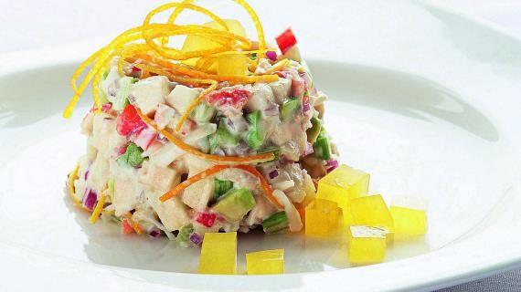 Крабовый салат с апельсиновым желе. Пошаговый рецепт с фото, удобный поиск рецептов на Gastronom.ru