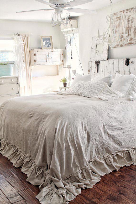 Ruffled BedSpread Shabby Chic Bedding Ruffled Bed Cover | Etsy ...