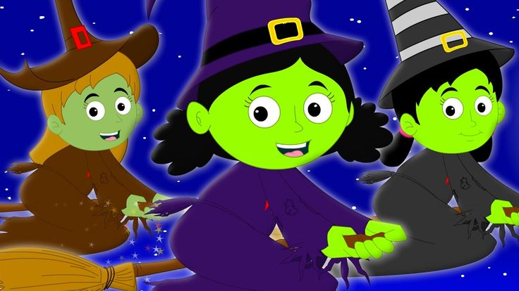 flying witches scary nursery rhymes